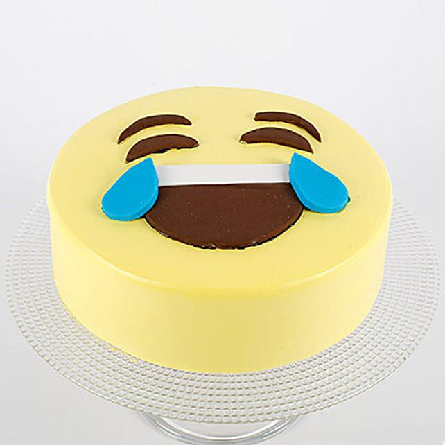 HaHa Emoji Semi Fondant Cake: Designer Cakes