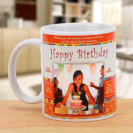 Happy Bday Personalized Mug: Coffee Mugs