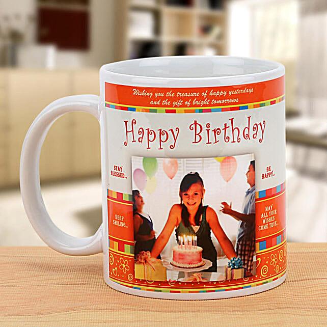 Happy Birthday Celebration Mug: Personalised Mugs