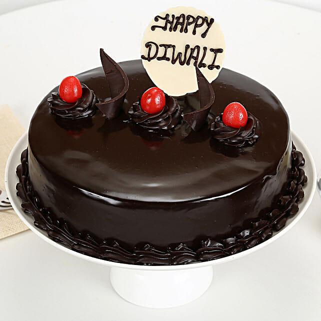 Happy Diwali Truffle Cake: Truffle Cakes