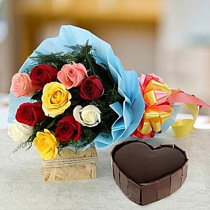 Heart Cake with Roses: Heart Shaped Gifts