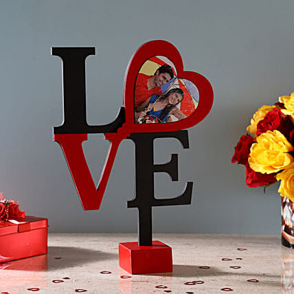 Hearty Love Frame: Valentine Personalised Photo Frames