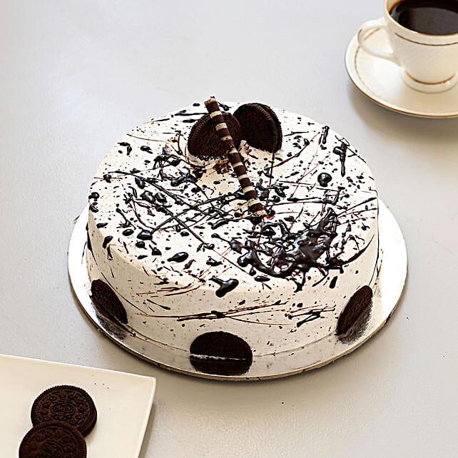 Heavenly Oreo Cookie Cake: Eggless Cakes