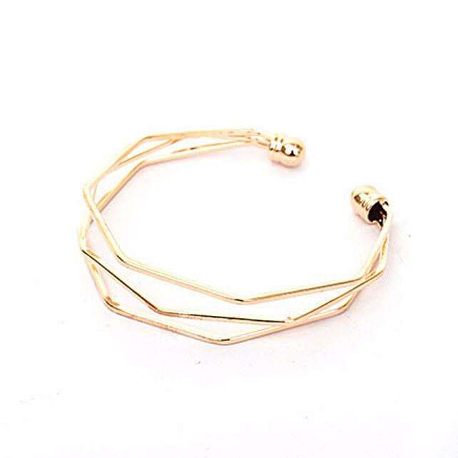 Hexagon Gold Bracelet: Fashion Accessories