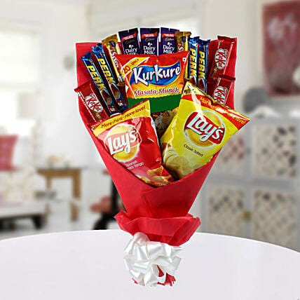 High on Snack Bouquet: Send Chocolate Bouquet
