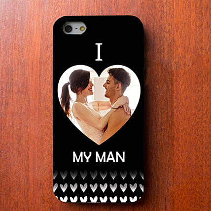 I Love My Man Personalized iPhone Cover: Personalised Mobile Covers