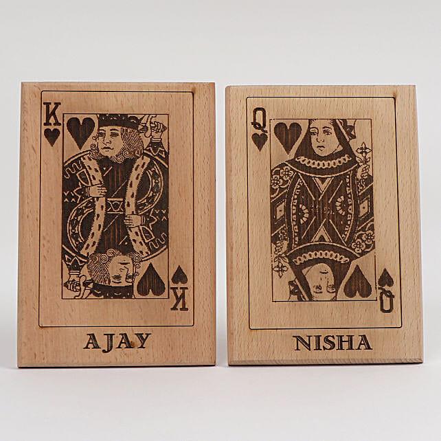 King & Queen Wooden Plaques: