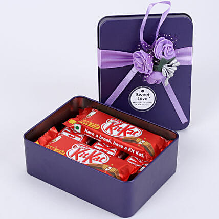 Kit-Kat in Purple Tin Box: Chocolates Shopping India