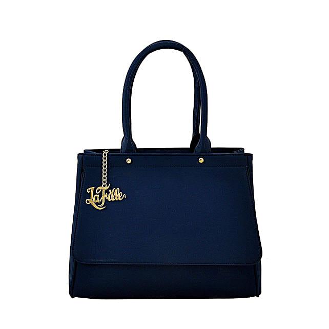 LaFille Blue Hand-Held Bag: Buy Handbags