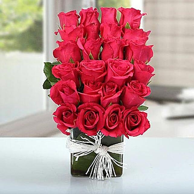 Layered Rose Arrangement: