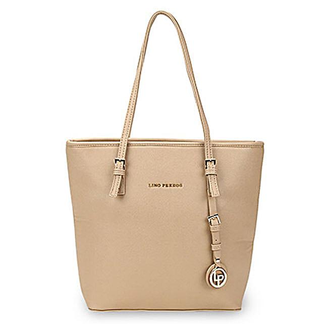 Lino Perros Appealing Beige Tote Bag: Buy Handbags