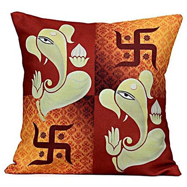 Lord Ganesha Cushion: Send Spiritual Gifts
