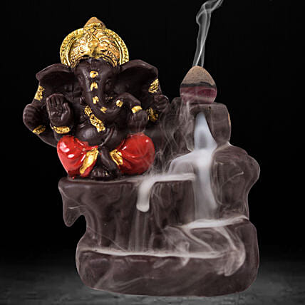 Lord Ganesha Incense Burner- Red: Unusual Gifts