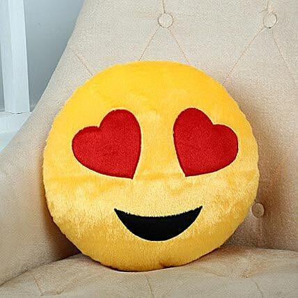 Lovely Hearts Yellow Cushion: 1St Anniversary Gifts