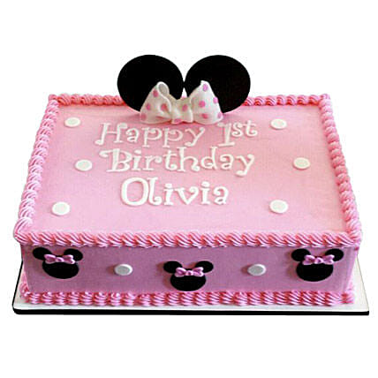 Lovely Pink Minnie Mouse Cake Cartoon Cakes