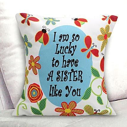 Lucky Sister Cushion: Return Gifts