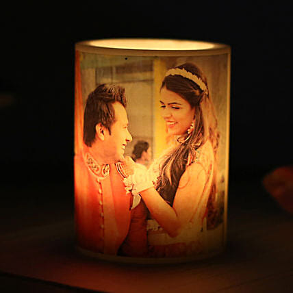Me and You Personalized Candle: Send Gifts to Amreli