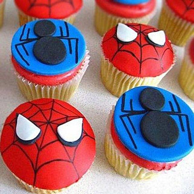 Meet the Spiderman Cupcakes:
