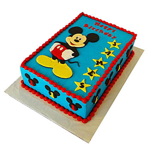 Mickey Mouse Designer Fondant Cake: 1st Birthday Gifts