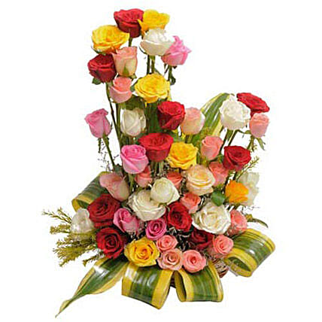 Modern Embrace: Flower Basket