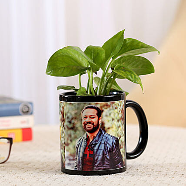 Money Plant In Stylish Personalised Mug: Personalised Gifts Combos