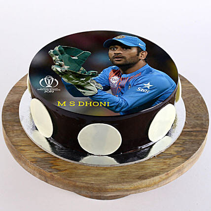 MS Dhoni Photo Cake: Cake Delivery