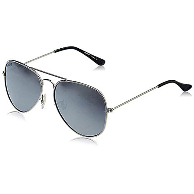MTV Roadies Silver Mirrored Unisex Aviator Sunglasses: Sunglasses Gifts