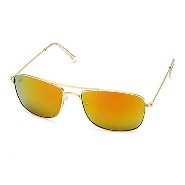 MTV Unisex Yellow Rectangular Sunglasses: Sunglasses