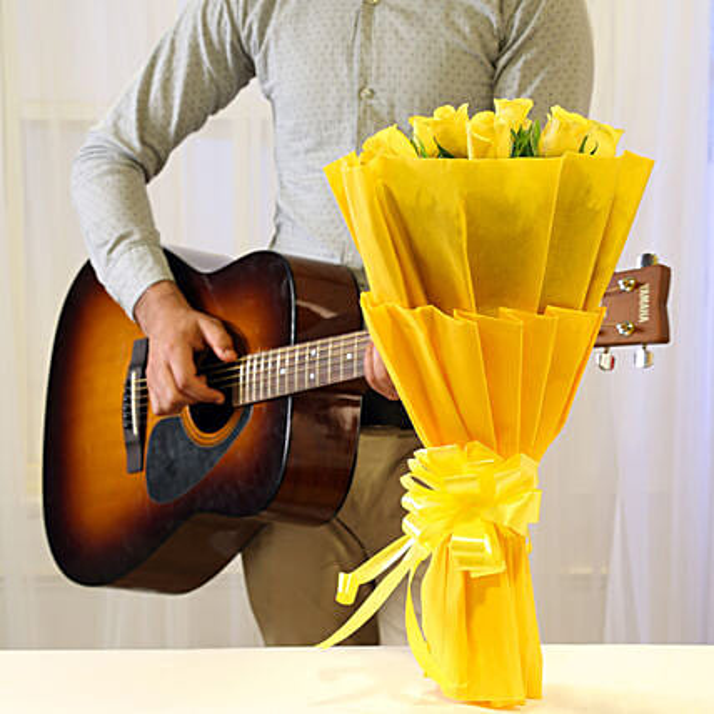 Musical Sunshine Combo: Send Flowers & Guitarist Service