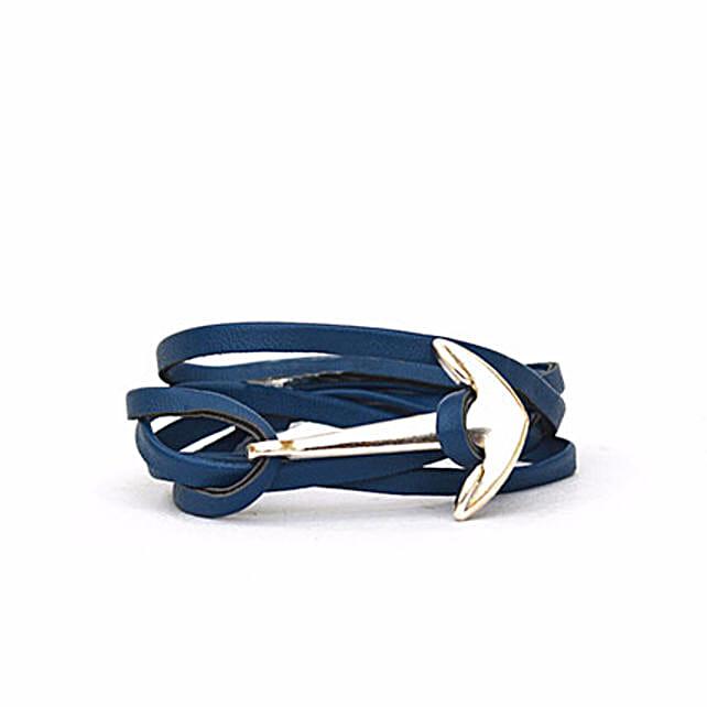Navy Anchor Loop Bracelet: Friendship day Bracelets