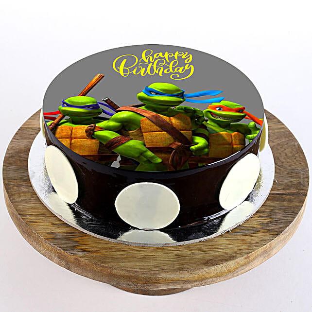 Ninja Turtles Chocolate Photo Cake: Superhero Cakes