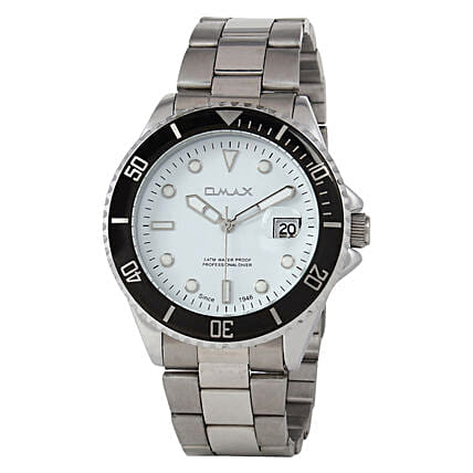 Omax Cool Dial Mens Watch White: Fashion Accessories