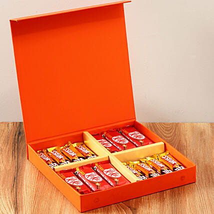 Orange FNP Gift Box Of Chocolates: Chocolate Gifts in India