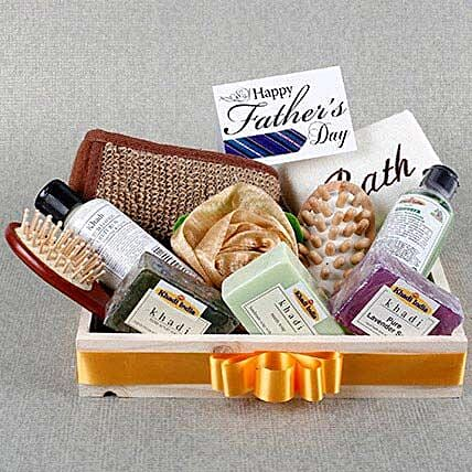 Pamper Dad Khadi Gift Hamper: Send Fathers Day Gift Hampers