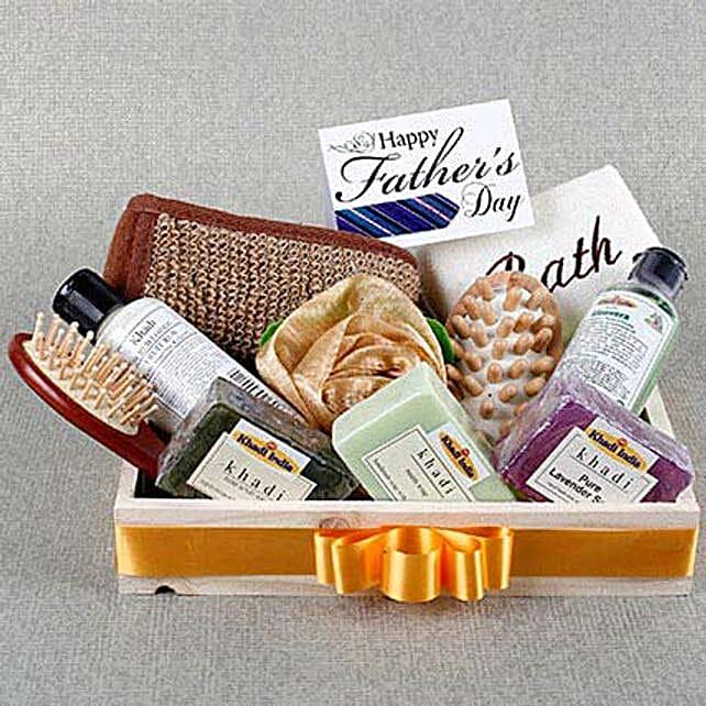 Pamper Dad Khadi Gift Hamper: Send Fathers Day Gift Hampers