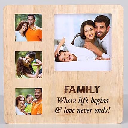 Perfect Family Personalised Photo Frame: Gifts to India