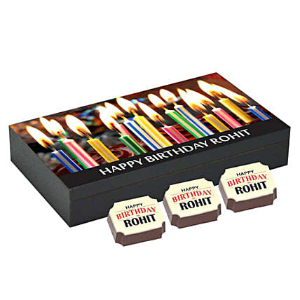 Personalised 6 Chocolate Box For Birthday Personalized Chocolates