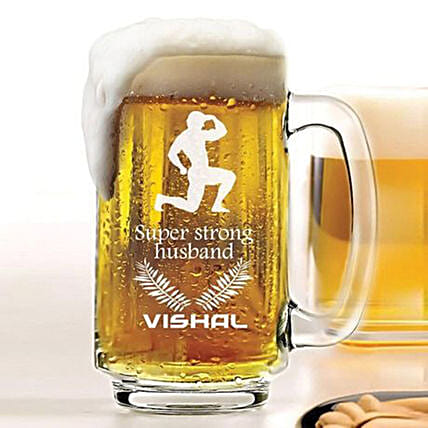Personalised Beer Mug 1078: Personalised Glassware