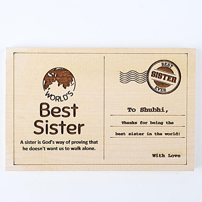 Personalised Best Sister Postcard