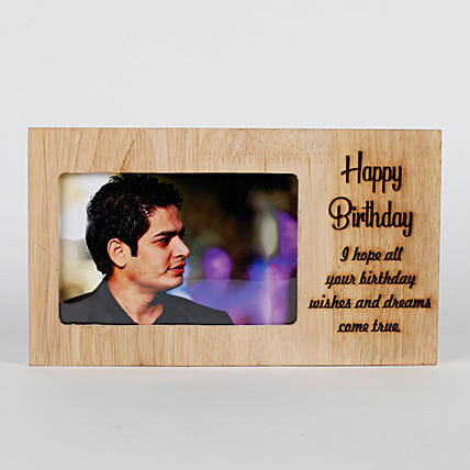 Personalised Birthday Engraved Frame Gifts For Husband