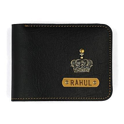 Personalised Black Mens Wallet: Personalised Accessories
