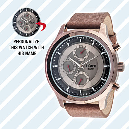 Personalised Black Watch For Him: