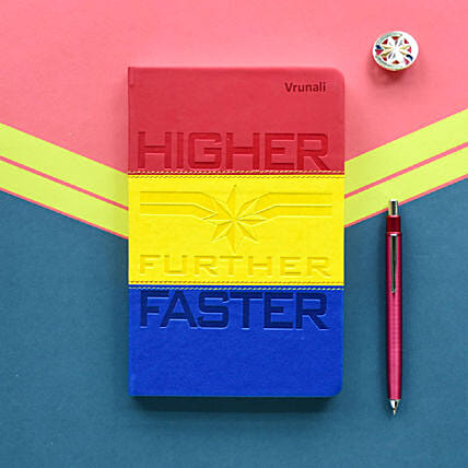 Personalised Captain Marvel Notebook: Gift Ideas