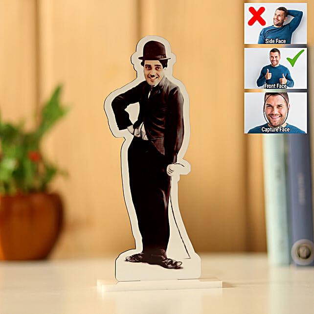 Personalised Charlie Chaplin Caricature: Personalised Caricatures