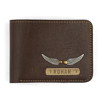 Personalised Dark Brown Mens Wallet: Personalised Accessories