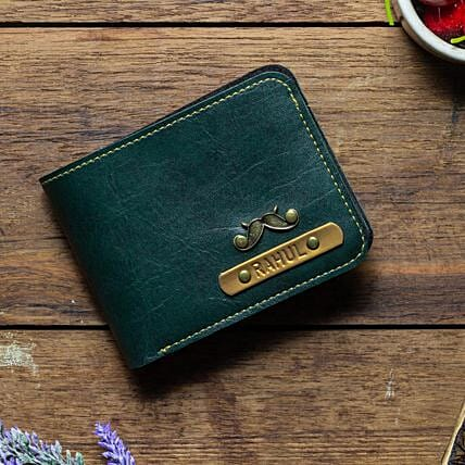 Personalised Forest Green Mens Wallet: Personalised Accessories