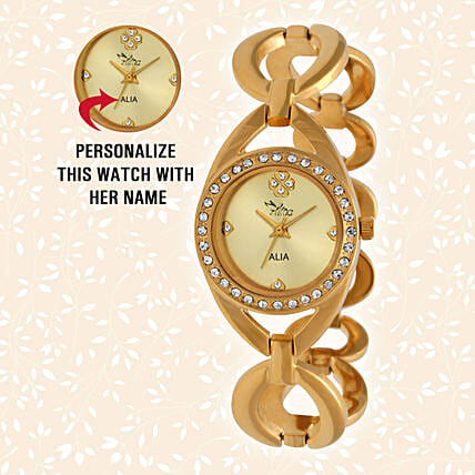 Personalised Graceful Golden Watch: Buy Watches