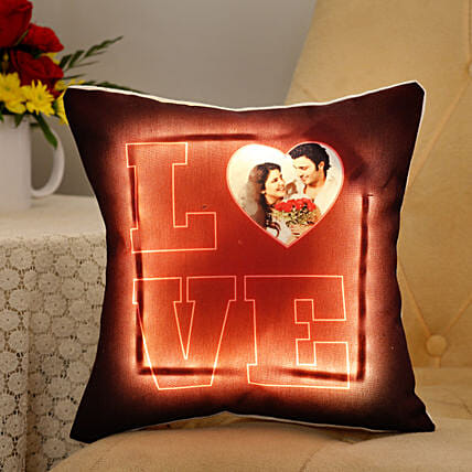Personalised LED Love Cushion  Cushions 4fc641b03