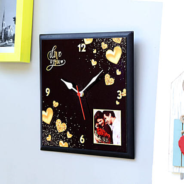 Personalised Love You Wall Clock: Clocks