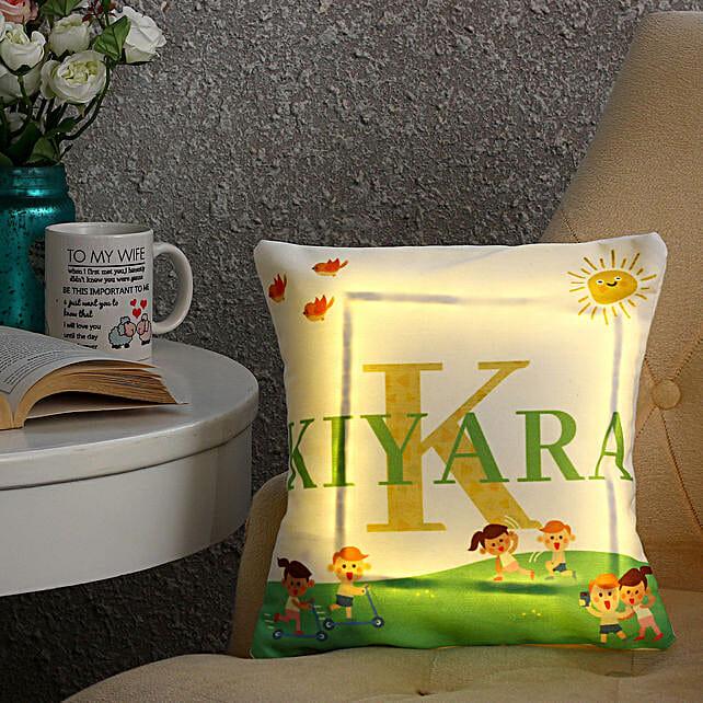 Personalised Name LED Cushion: Cushions